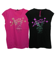 Playboy Foil and Sequin Gather T-Shirt Pink 8
