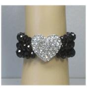 3 Row Heart Bracelet