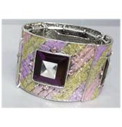4 Part Diamond Stone Bracelet