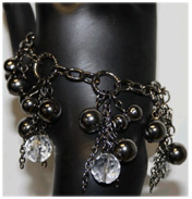 Chain & Crystal Effect Bracelet