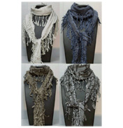Accessory Angel Crochet High Fashion Scarf Grey…