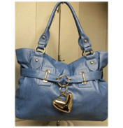Heart Charm Bag in Blue