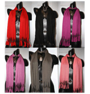 Accessory Angel Scarf with Necklace Effect Black…